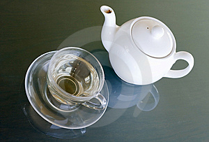 White Tea In Transparent Cup Royalty Free Stock Photos - Image: 9388968