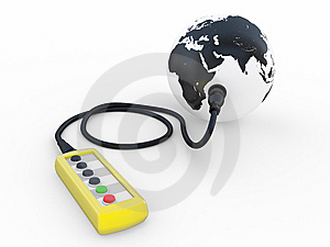 The Yellow Control Board Royalty Free Stock Photos - Image: 9389248