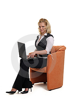 Woman With A Notebook Royalty Free Stock Image - Image: 9389676