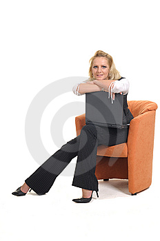 Woman With A Notebook Royalty Free Stock Photography - Image: 9389687
