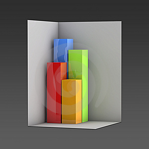 Diagram box shape Stock Image