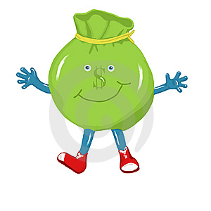 Money Bag Character Stock Photos - Image: 9390803