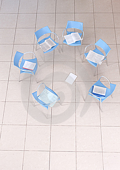 Chairs In An Empty Space Stock Photo - Image: 9390820