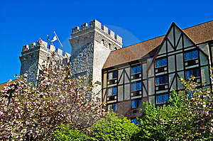 Tudor Manor In Spring Royalty Free Stock Photography - Image: 9396427