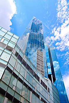 Blue Building Royalty Free Stock Image - Image: 9397086