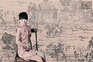 Tradycyjna Smokingowa Chińczyk Dziewczyna Zdjęcia Royalty Free - Obraz: 9398228