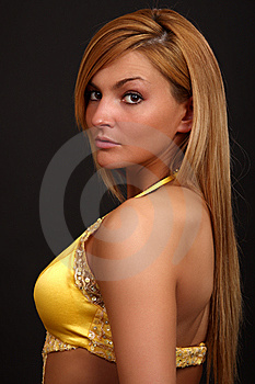 Fitness Woman In Evening-dress Royalty Free Stock Photos - Image: 9399648