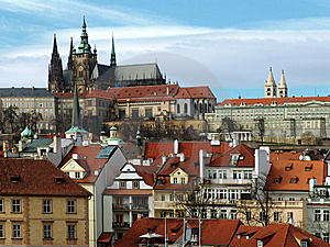 Prague Gothic Castle On The River Vltava Royalty Free Stock Image - Image: 9399826
