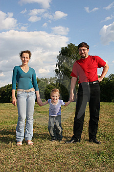 Family with son Royalty Free Stock Image