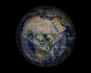 World Globe on black005 Stock Image