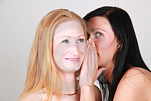 Whispering Girls Stock Photos - Image: 9401863