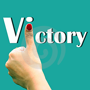 Hand Sign Depicting Victory Stock Photo - Image: 9402200