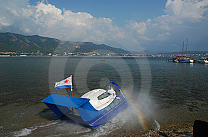 Cutter On Air Pillow Royalty Free Stock Photo - Image: 9403365