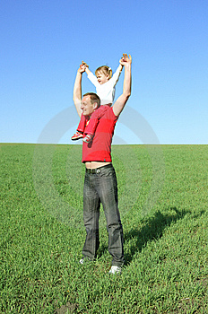 Father Plays With Daughter Royalty Free Stock Photography - Image: 9403487