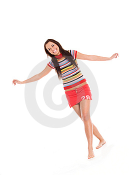 Happy Young Woman Stock Image - Image: 9404561