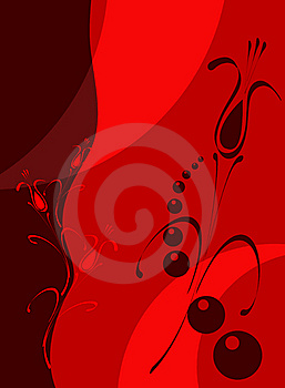 Red-clared Floral Royalty Free Stock Image - Image: 9405226
