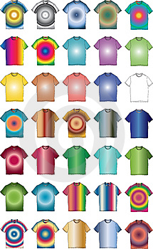 Fashion Clothes Color T-shirt Shape Illustration Stock Photography - Image: 9408782