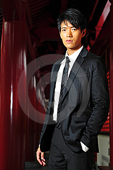 Smart Asian Man In Temple Stock Images - Image: 9409214