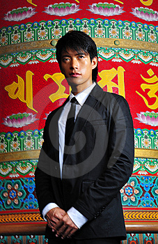 Smart Asian Man In Temple Stock Photo - Image: 9409350