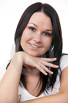 Close-up Portrait Of Caucasian Young Woman Royalty Free Stock Photo - Image: 9409635
