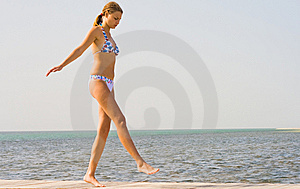 Girl On A Pier Royalty Free Stock Photography - Image: 9412517