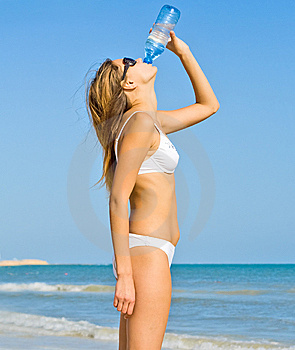 Girl Drinking Stock Photography - Image: 9412522