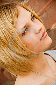 Portrait Of Young Beautiful Woman Royalty Free Stock Photos - Image: 9412758