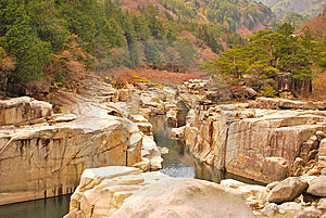 Ravine With Huge Rocks Royalty Free Stock Photography - Image: 9415767