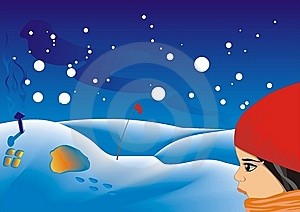 Winter Scene Royalty Free Stock Image - Image: 9418526