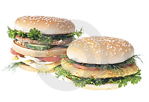 Hamburgers Stock Images - Image: 9418634
