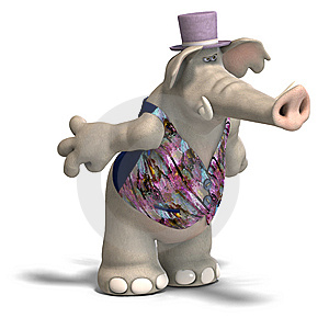 Elephant Bridegroom In Tux Royalty Free Stock Images - Image: 9418839