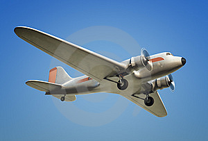 DC3 In Flight Stock Photo - Image: 9420470