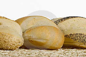 Artisan Loafs In A Row Royalty Free Stock Photo - Image: 9421075