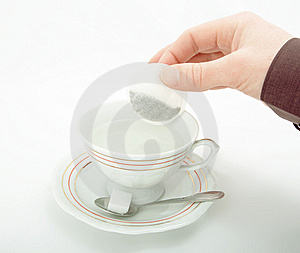 Cup Of Hot Water For Tea. Stock Photo - Image: 9421170