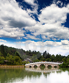 A Scenery Park Near Lijiang Royalty Free Stock Images - Image: 9424079