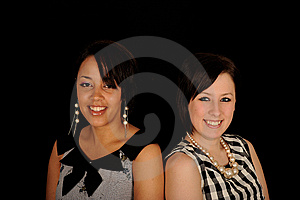 Portrait Of Two Young  Woman Royalty Free Stock Photography - Image: 9426057