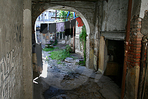 Courtyard In Tbilisi Stock Images - Image: 9427294