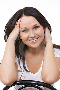 Close-up Portrait Of Caucasian Young Woman Stock Image - Image: 9427301