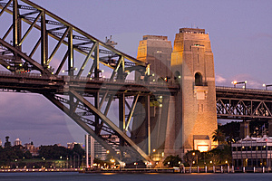 Harbour Bridge Pillars Royalty Free Stock Photos - Image: 9428108