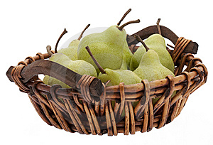 Basket With Pears Royalty Free Stock Image - Image: 9430036