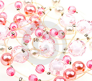 Beautiful String Of Beads To Background Royalty Free Stock Image - Image: 9430846