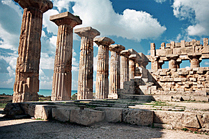 Temple At Selinunte Stock Photo - Image: 9431430
