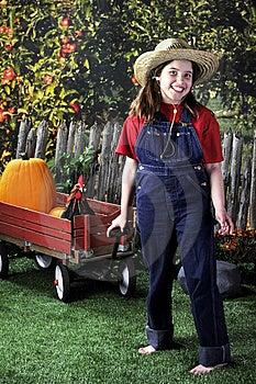 Farm Girl Stock Image - Image: 9433301