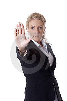 Businesswoman Stop Royalty Free Stock Photo - Image: 9434225
