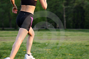 Running woman Free Stock Image