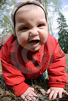 Little Boy Playing In Leaves Royalty Free Stock Photos - Image: 9436298