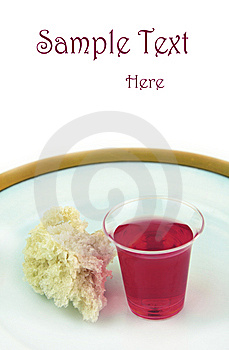 Communion Bread And Wine On Plate Royalty Free Stock Images - Image: 9438149