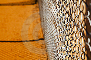 Chain Link Fence Stock Image - Image: 9439271