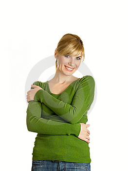 Beautiful Girl In Green Royalty Free Stock Photography - Image: 9439917