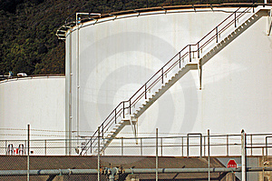 Chemical Storage Tanks At Seaview Stock Image - Image: 9441811
